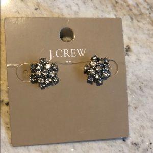 J-Crew crystal star ear studs